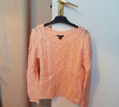 Púder színű kötött H&M pulcsi