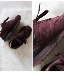 Eredeti New Balance 574 lila/bordó cipő