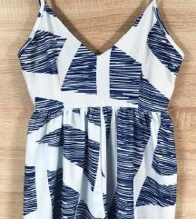 Kék-fehér sexy nyári overál / playsuit (csere is)