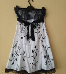 Fekete-fehér tulipános alkalmi ruha