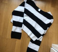 H&M crop pulóver felső
