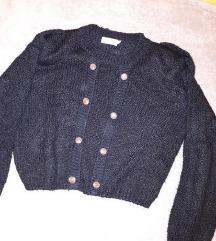 Crop fekete pulóver