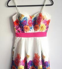 ÚJ! Csodaszép virágos alkalmi ruha