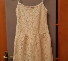 Mango gyönyörű púder csipke nyári ruha M