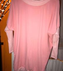 Rózsaszín pulcsi tunika posta az árban