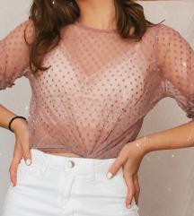 Átlátszó rózsaszín póló