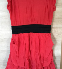 Atmosphere piros gyűrt anyagú ruha (csere is)