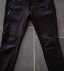 Velúr, bőr szerű Amisu nadrág, motoros fazon