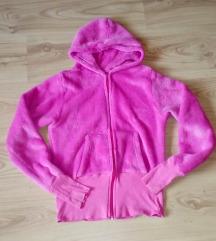 Pink plüss pulóver