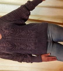 Reserved gyönyörű kékes lila pulóver M-L