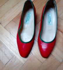 Piros bőr cipő