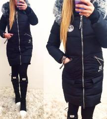 - IMPRESS - fekete steppelt kabát (Ingyen posta)