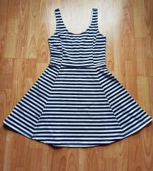 H&M csíkos nyári ruha 38