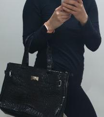 Lakk bőr táska újszerű