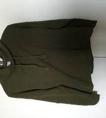 Khaki színű kapucnis pulcsi