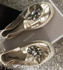 Tamaris arany köves topán, cipő