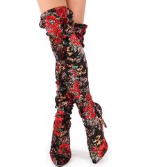 Új Sergio Todzi virágmintás térdcsizma 35