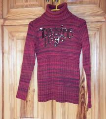 Mayo chix bordó kötött pulóver