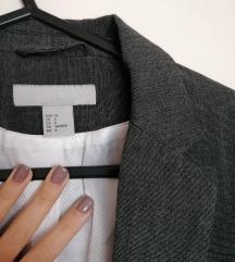 ÚJ H&M karcsúsított női grafit blézer