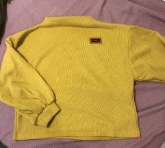mustársárga rovid pulover