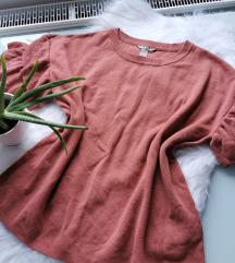 H&M nude kötött pulcsi L