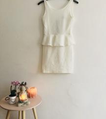 Fehér peplum elegáns ruha