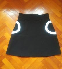 H&M fekete téli szoknya S/36