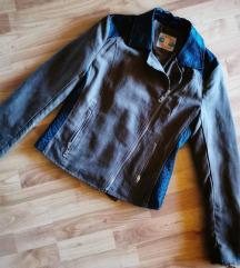 Műbőr barna dzseki