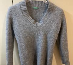 Szürke vastag pulóver