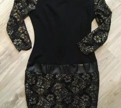 Újszerű arany,fekete Mystic Day ruha