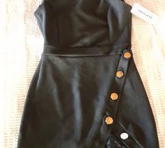 LEÁRAZTAM! Miss One fekete velúr ruha S ÚJ!