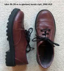 Bordó platform cipő, H&M, 36, 2500 HUF