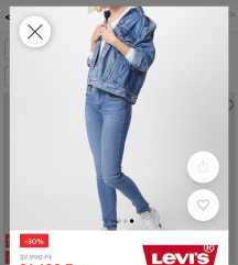 Levis super skinny farmer