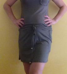 GARDRÓBÜRÍTÉS! Csinos khaki színű ruha