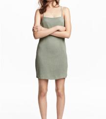 H&M anyagában csíkos keresztpántos ruha