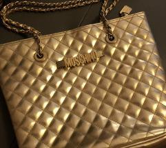 Vintage Moschino arany bőr táska