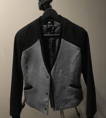 H&M szürke-fekete dzseki