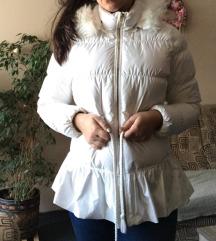 Adidas fehér téli toll kabát