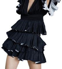 Új, címkés Zara fekete rétegezett szoknya