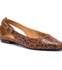 Maciejka leopárdmintás bőr balerina 36