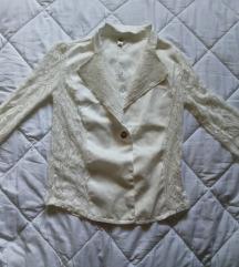 Törtfehér csipkés blazer (S/M)