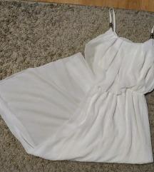 CÍMKÉS fehér alkalmi hosszú ruha
