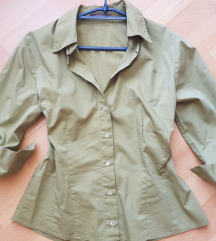 Pasztel zöld színű rugalmas ing M