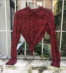 Piros leopárd mintás ing, Reserved YFL