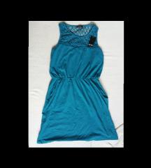 Új, címkés esmara csipkés kékeszöld ruha