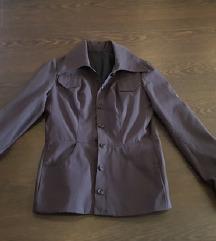 Új sötétszürke ingkabát
