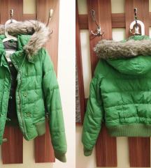 Hibátlan Abercrombie S-es Zöld Kapucnis kabát