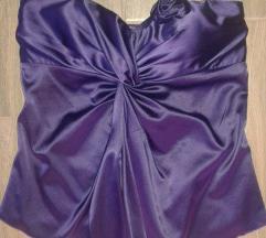 Szaténfényű lila felső