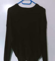 Pull&Bear bordó kötött pulóver
