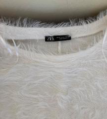 ZARA fehér szőrme pulcsi